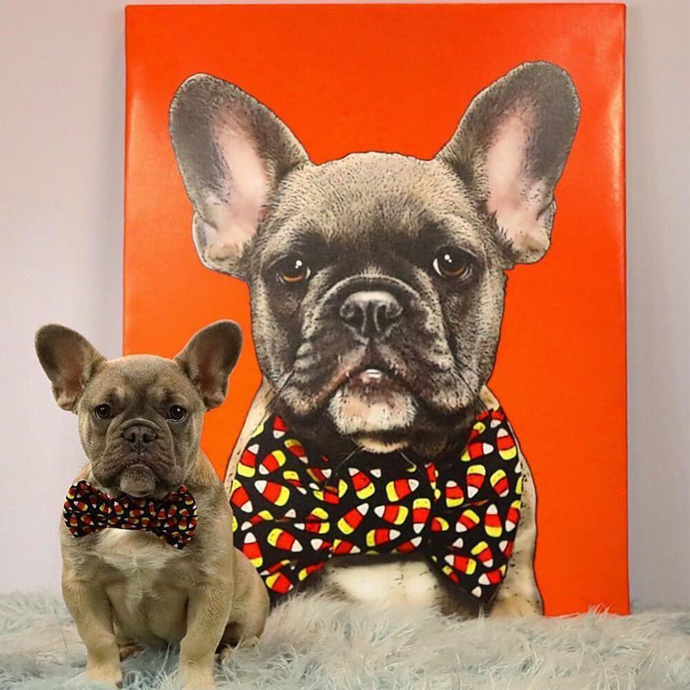 Custom Pet Art Canvas Wrap Custom Pet Art Pop Art Animals