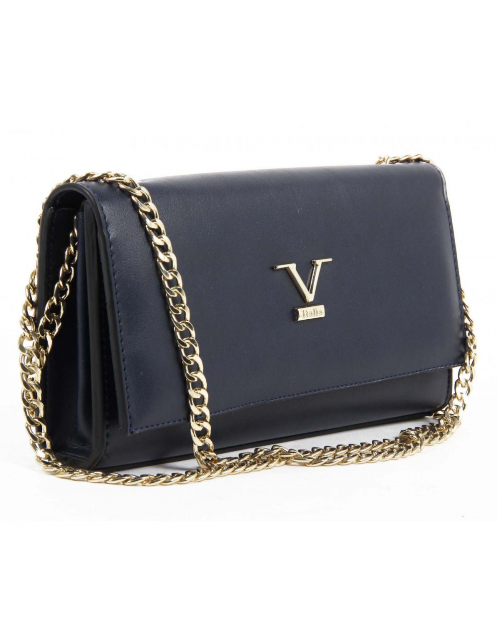 73.81$  Watch now - http://vimws.justgood.pw/vig/item.php?t=9lln5628528 - Versace 19.69 Abbigliamento Sportivo Srl Milano Italia Handbag VE011 Dark Blue 73.81$
