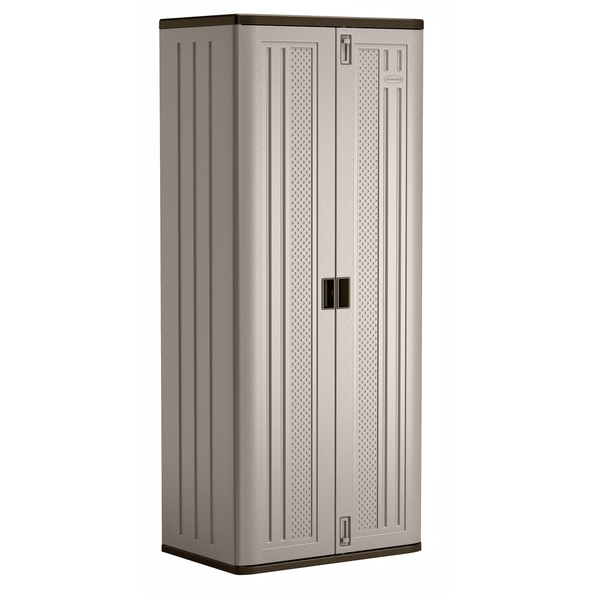 Suncast Resin Base Storage Cabinet Locker 72 H X 30 W For Garage Home Shed Gray Walmart Com In 2020 Locker Storage Storage Outdoor Storage Locker
