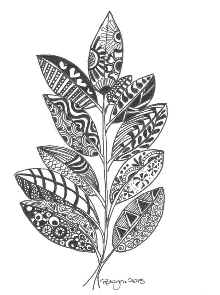 leaf coloring pages for adults - photo#13