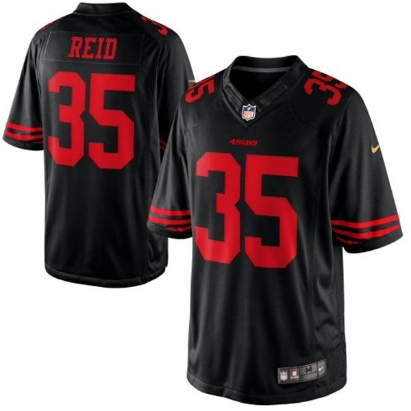 e7f0e78b Men's 2015 Nike NFL San Francisco 49ers 35# Eric Reid Black ...
