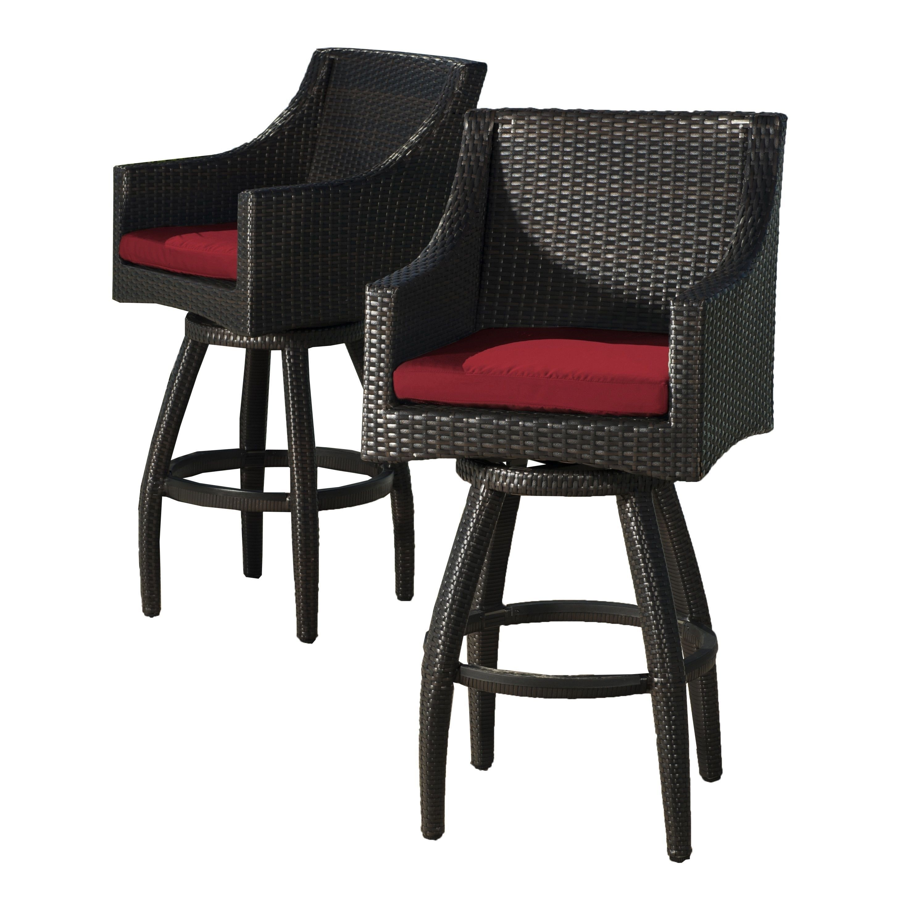 Set of 2 deco sunset red swivel barstools by rst brands sunset red