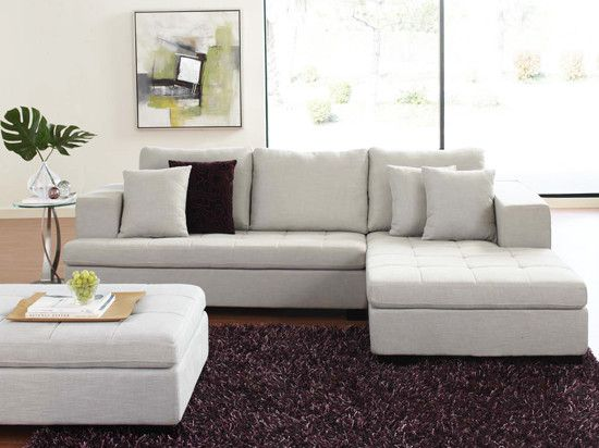 Contemporary Scandinavian Design mirak sectional with ottoman - contemporary - sectional sofas
