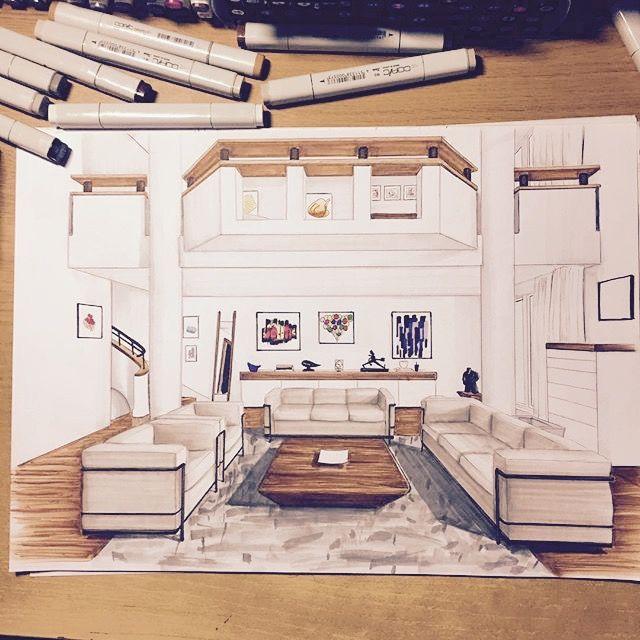 croquis architecture intérieure - Recherche Google Renderings - creer plan de maison