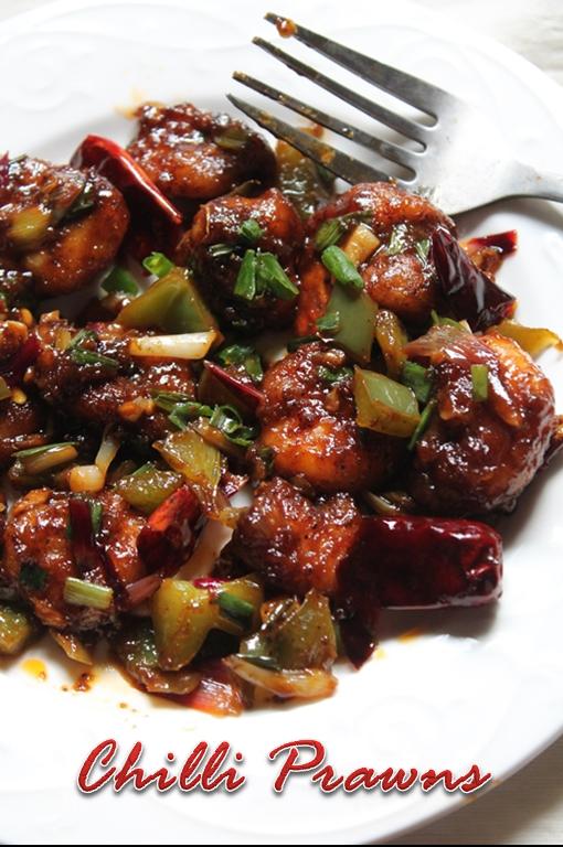 Chilli Prawns Recipe Yummy Tummy Prawn Dishes Prawn Recipes Easy Seafood Recipes