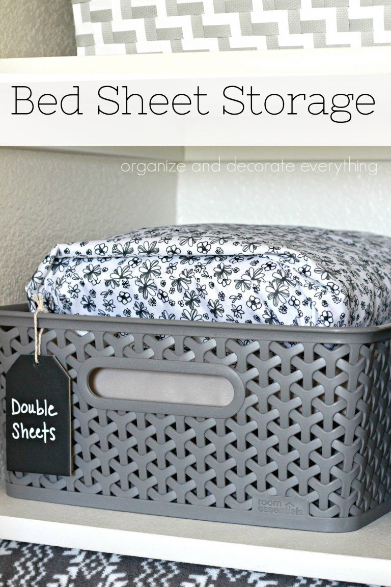 Bed Sheet Storage 31 Days Of Organizing And Cleaning Hacks Sheet Storage Bed Sheets Pillow Storage