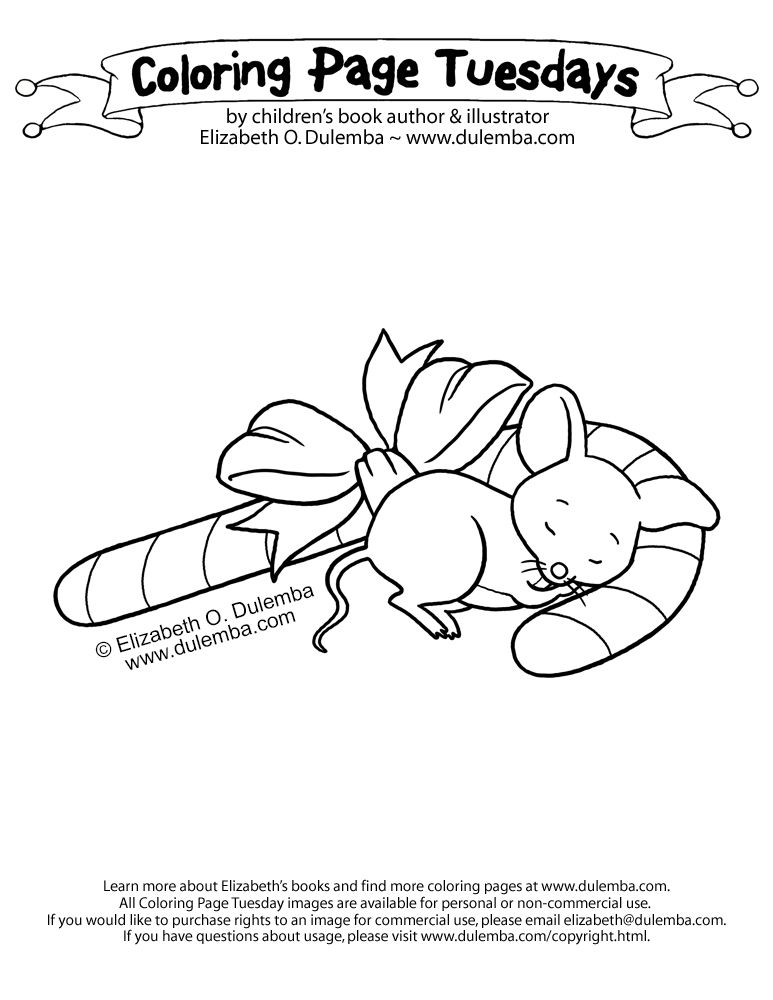 Coloring Page Tuesday Sleeping Mouse Coloring Pages Color
