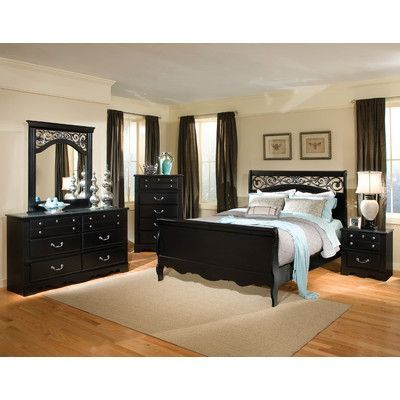 Standard Furniture Madera Sleigh Customizable Bedroom Set  Reviews - Cheap Black Furniture