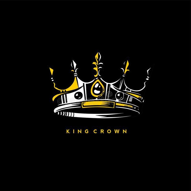 Minimal logo of king crown vector illustration royalty