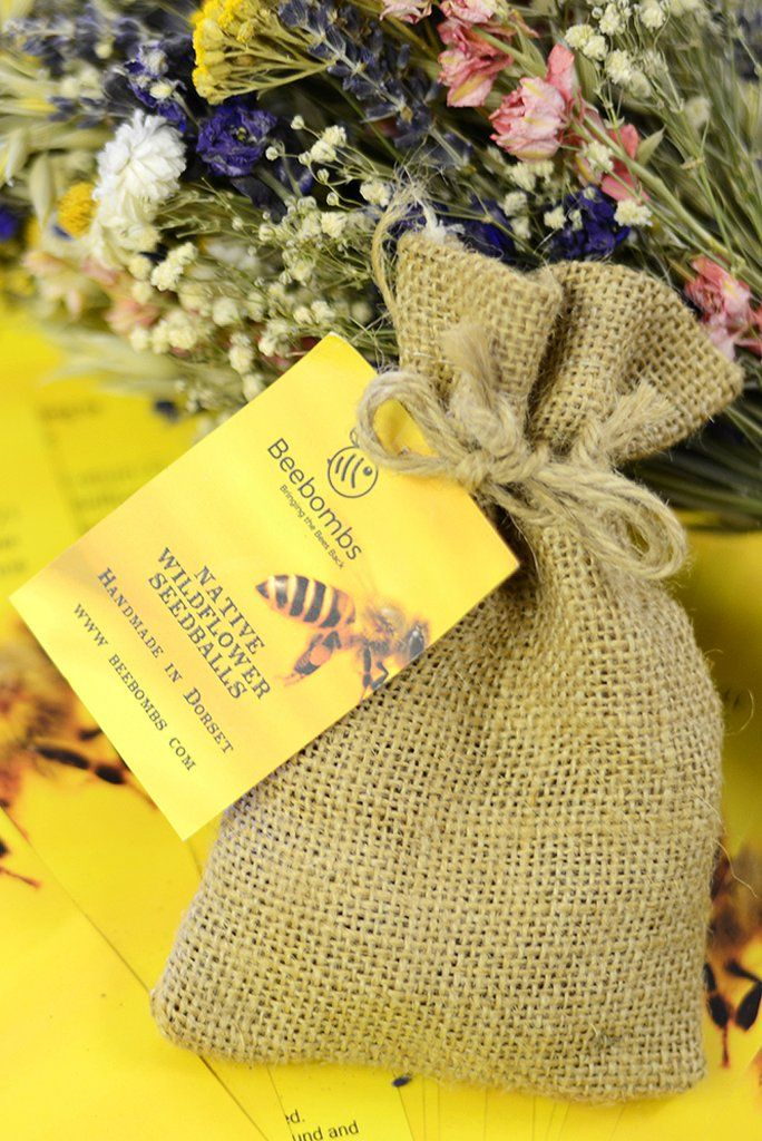 Bee Bombs Plastic shop, Wildflower seeds, Wild flowers