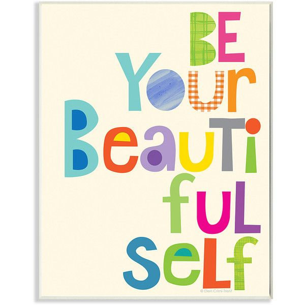 Word Wall Decor Plaques Signs New Stupell Industries 'be Your Beautiful Self' Wall Art $17 Decorating Inspiration