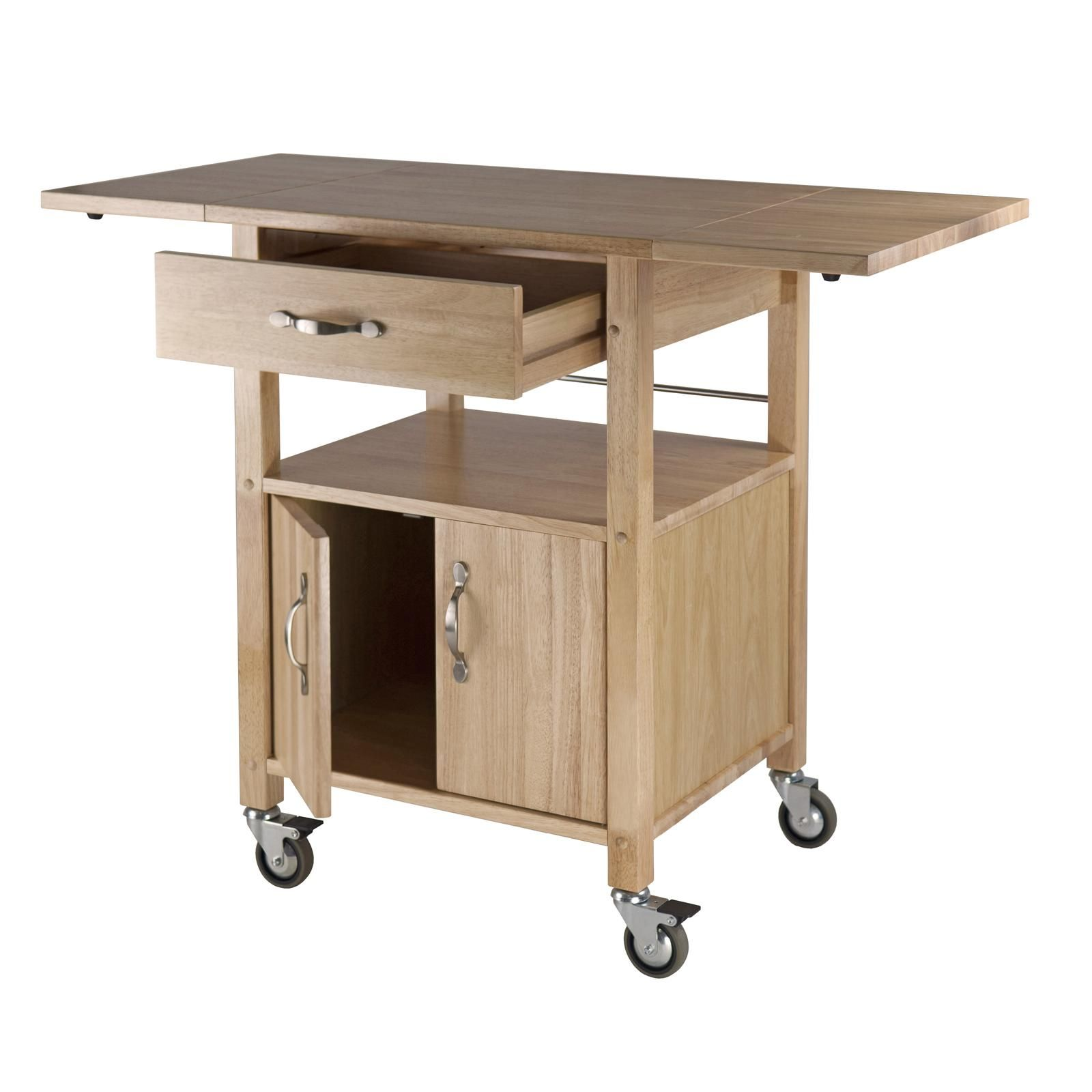 Winsome Wood Drop Leaf Kitchen Cart Bar Serving Carts