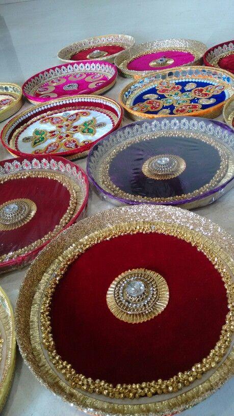 Puja thali- Vrishti Creations | ️Thali Decor ️ | Thali ...