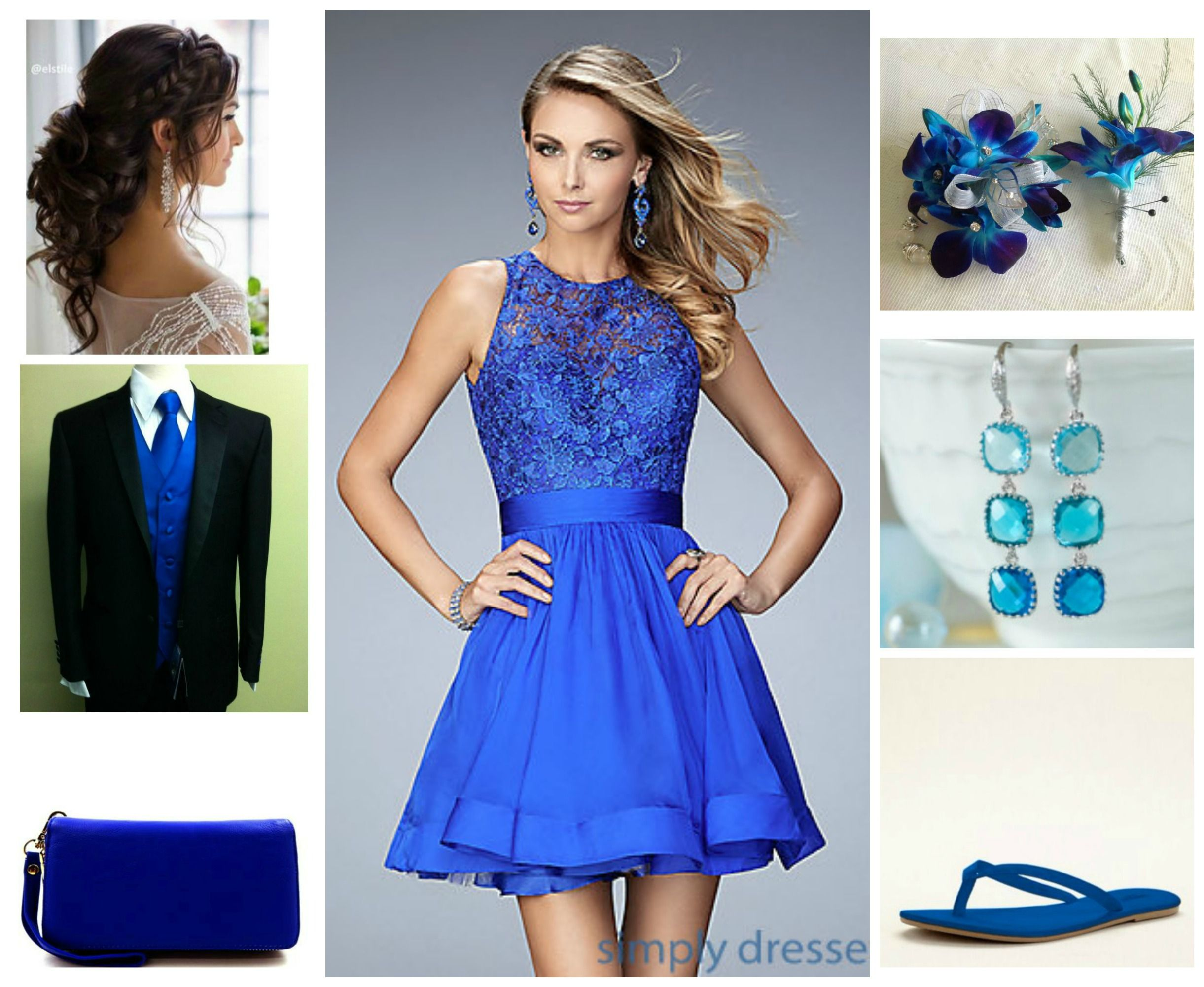 Royal blue short ashyus prom lookbook pinterest royal