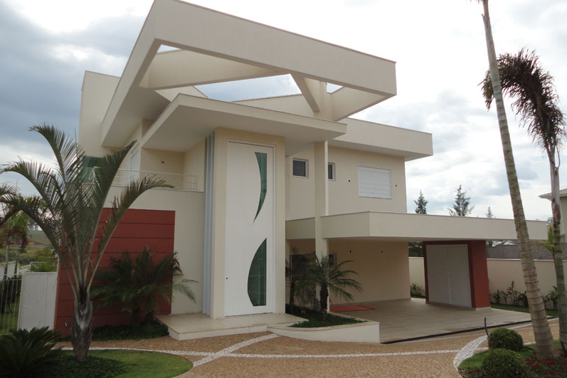 40 fachadas de casas modernas e esculturais maravilhosas for Casas duplex modernas
