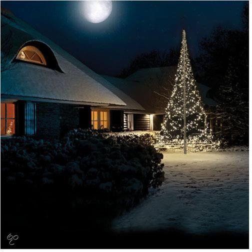 Fairybell - Vlaggenmast verlichting met 960 Warmwitte LED Lampjes ...