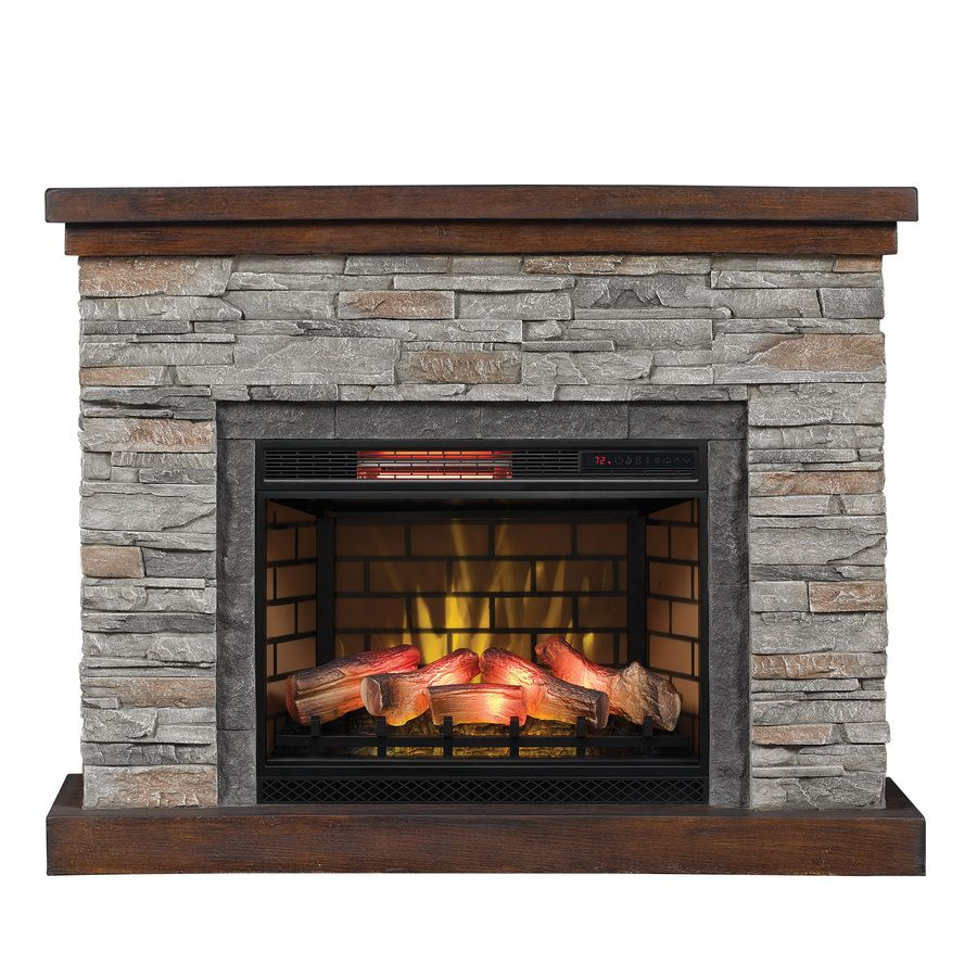 Duraflame 54-in W 5200-BTU Cappuccino Brown Ash MDF Flat Wall Infrared Quartz Electric Fireplace with Thermostat and Remote