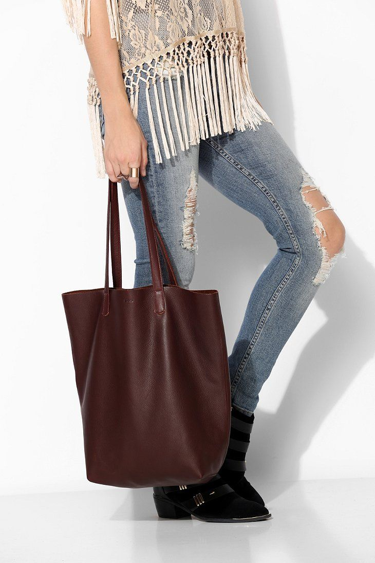 Fabuleux BAGGU Basic Leather Tote Bag - Urban Outfitters | Totes  AO92