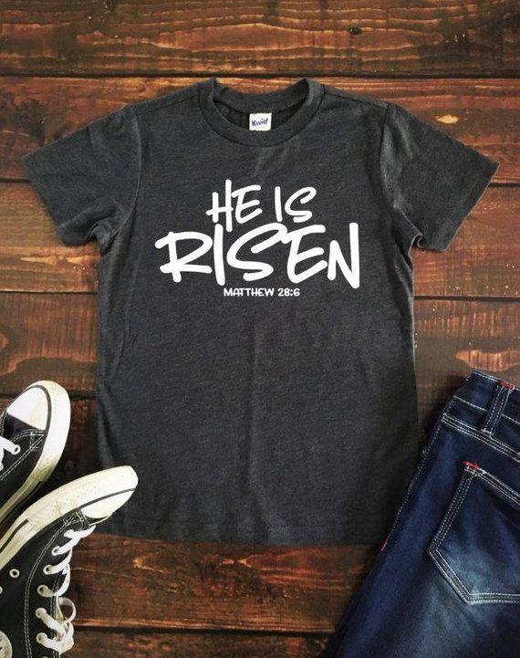 37379ec6455a Hi is Risen T shirt