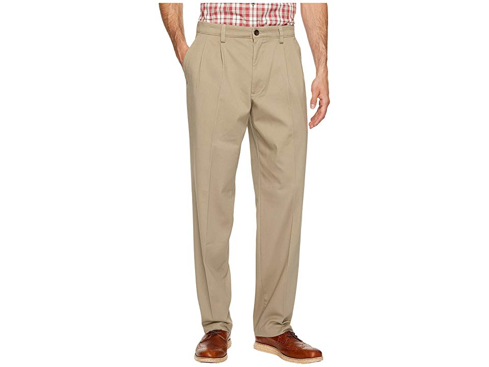 COLORS NWT Pleated Front Dockers Men/'s D3 Classic Fit Iron Free Pants SIZES