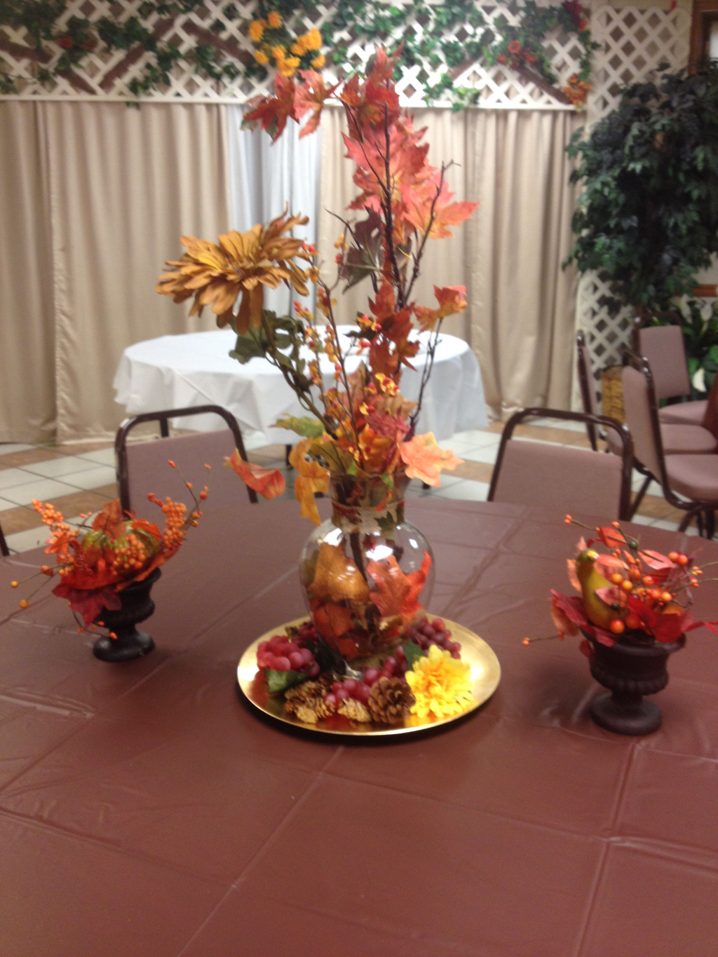 Ideas for pastor anniversary table - Autumn Decoration For Pastor Appreciation Day