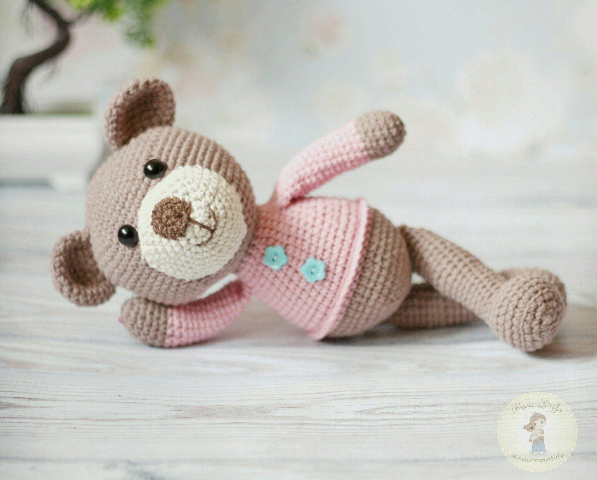 Amigurumi bear   crochet & knitting   Amigurumi mönster и ...