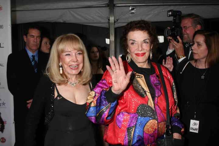 Terry Moore And Jane Russell Show Up At The Hollywood Walk Of Fame's 50th Anniversary Party.