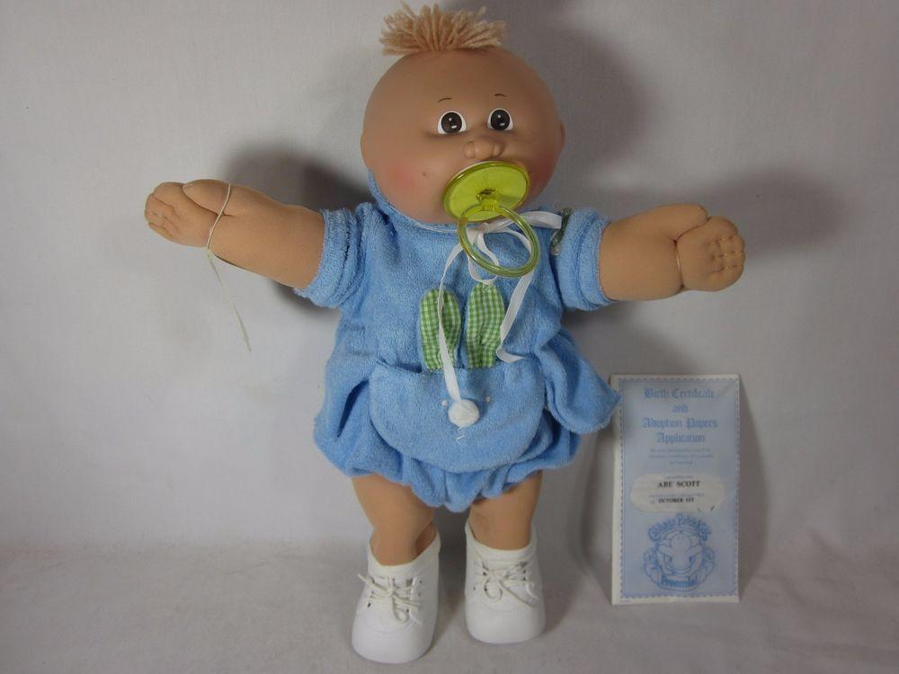 Vintage 1984 Cabbage Patch Kid Doll Preemies Boy Abe Scott October 1st Cabbage Patch Kids Dolls Cabbage Patch Kids Preemie Boy