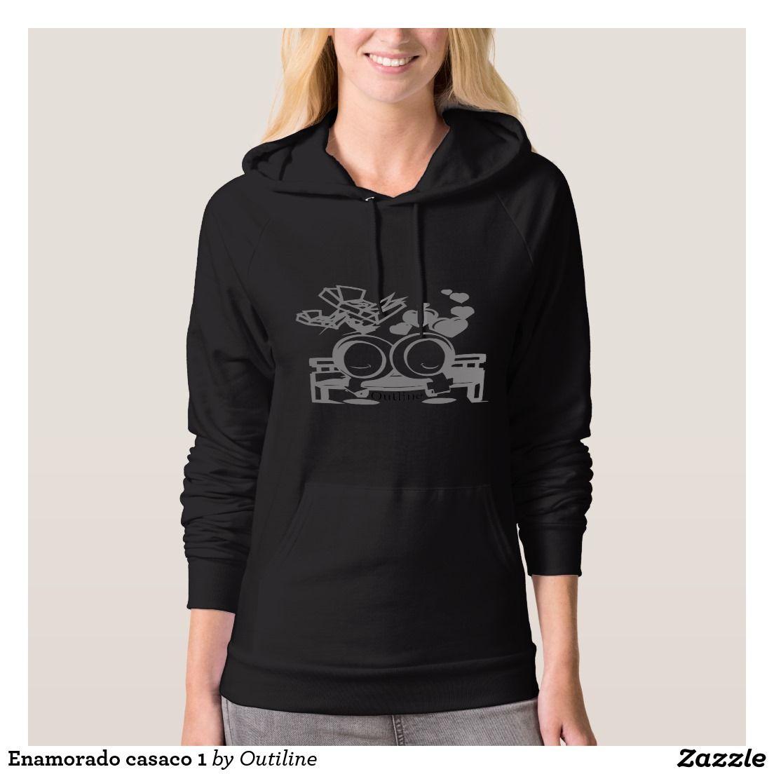 b503f8ba0 Moletom Enamorado casaco 1   Zazzle.com.br   Outiline Camisetas ...