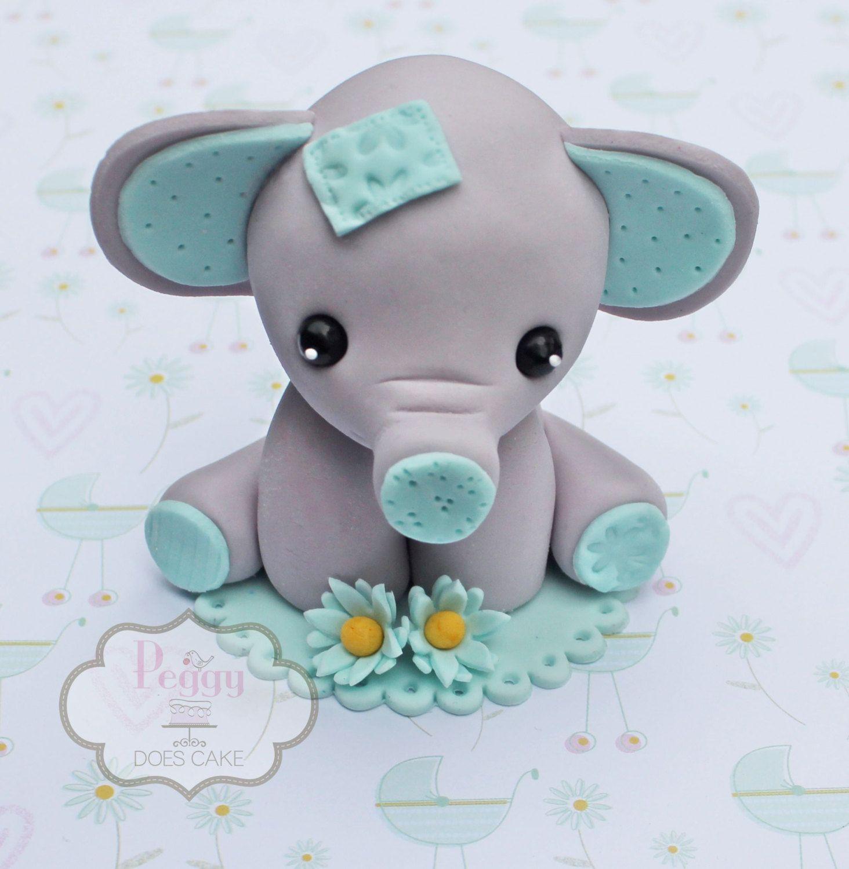 fondant 3d elephant cake topper babyparty pinterest fondant elefant elefanten kuchen und. Black Bedroom Furniture Sets. Home Design Ideas