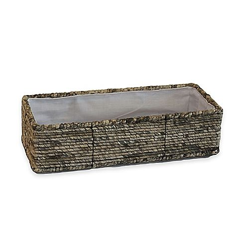 The Christina Maize Binded Toilet Tank Basket Boasts A Classic Style That Will Complete Any Bathroom The Beautiful Woven Pa Toilet Tank Home Design Diy Basket