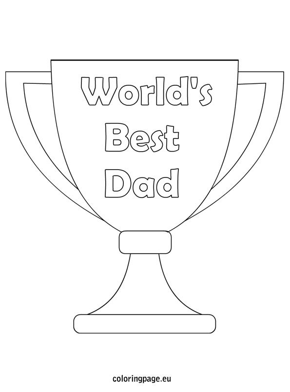 World S Best Dad Coloring Page Kids Fathers Day Crafts Fathers Day Coloring Page Worlds Best Dad
