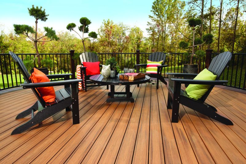 Extraordinary Trex Decking Decorating Ideas For Deck Traditional