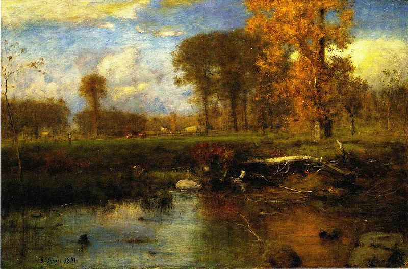 george inness early moonrise - 800×528