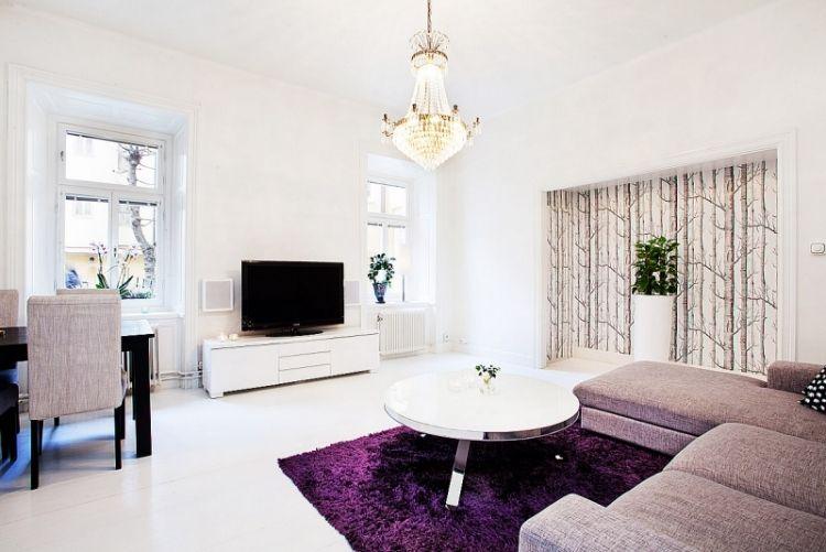 Deko fürs Wohnzimmer im skandinavischen Stil \u2013 Tipps und Bilder in