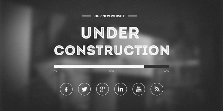 free under construction template vector image 365psdcom