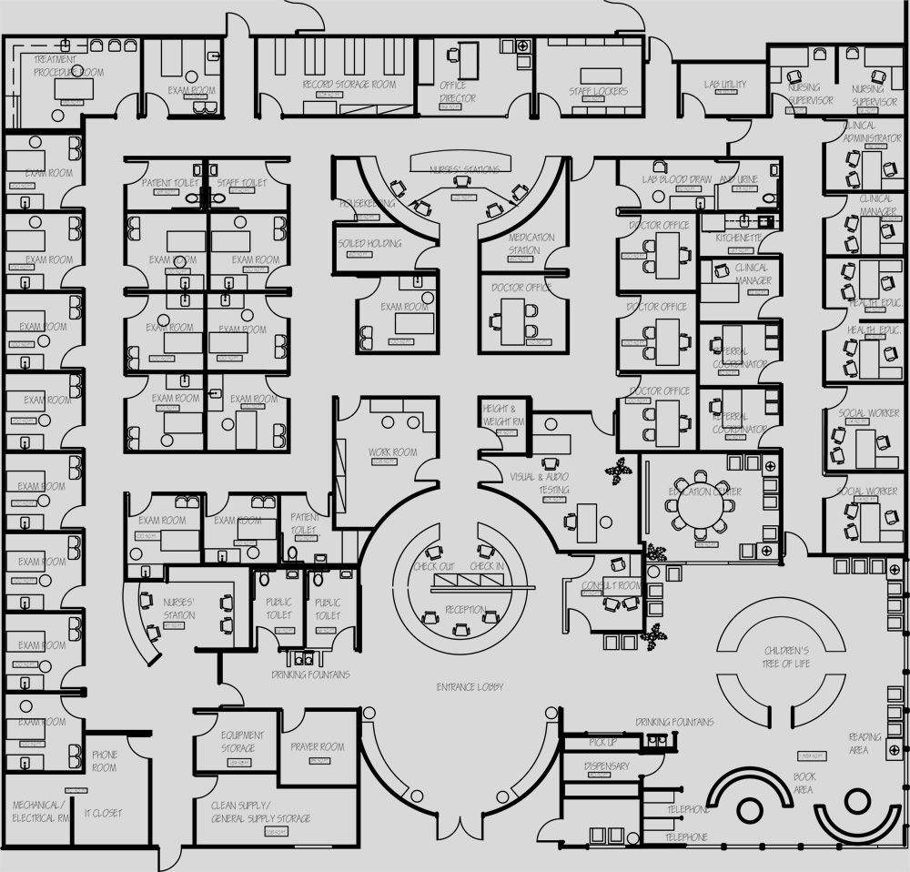 Health Care Clinic Floor Plans Google Search