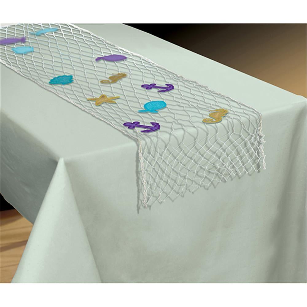 Amscan Tischläufer Fischernetz Mermaid Wishes Tischläufer Fischernetz Mermaid Wishes für eine tolle Dekoration an Geburtstagen. Masse: 96 x 192 cm.