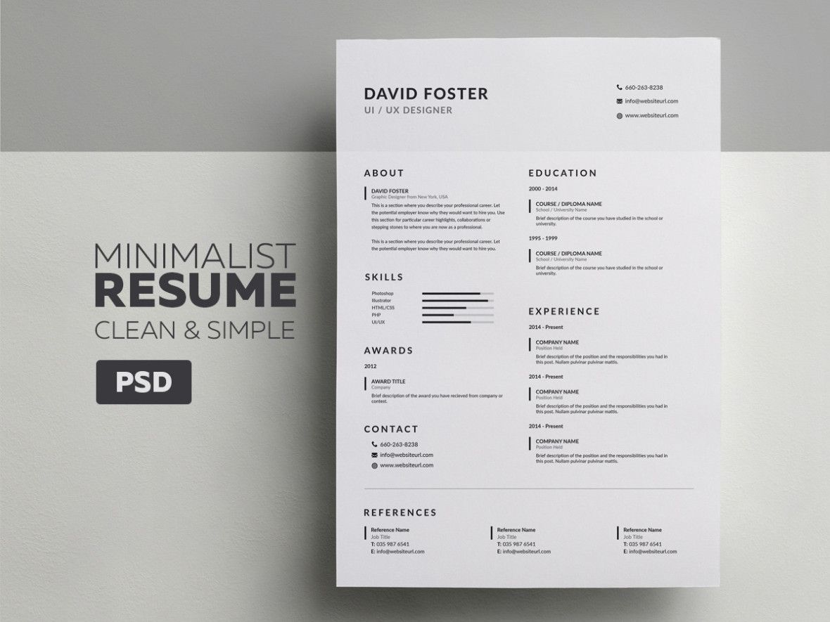 Image result for graphic design student resume minimalist   Resume ...