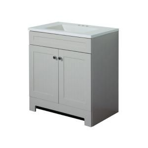 Paul Country 30 In Vanity Linen With Ab Engineered Composite Top Alpine Basin At The Home Depot Tablet