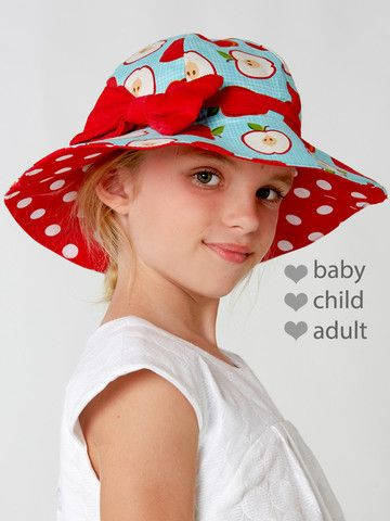 HAT - Reversible Hat Sewing Pattern - Baby, Child, Adult Sizes - UNISEX