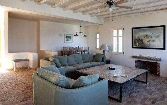 Griechenland   Kykladen   Antiparos   Soros   Soros Beach Villa 2   Großes  Wohnzimmer Mit