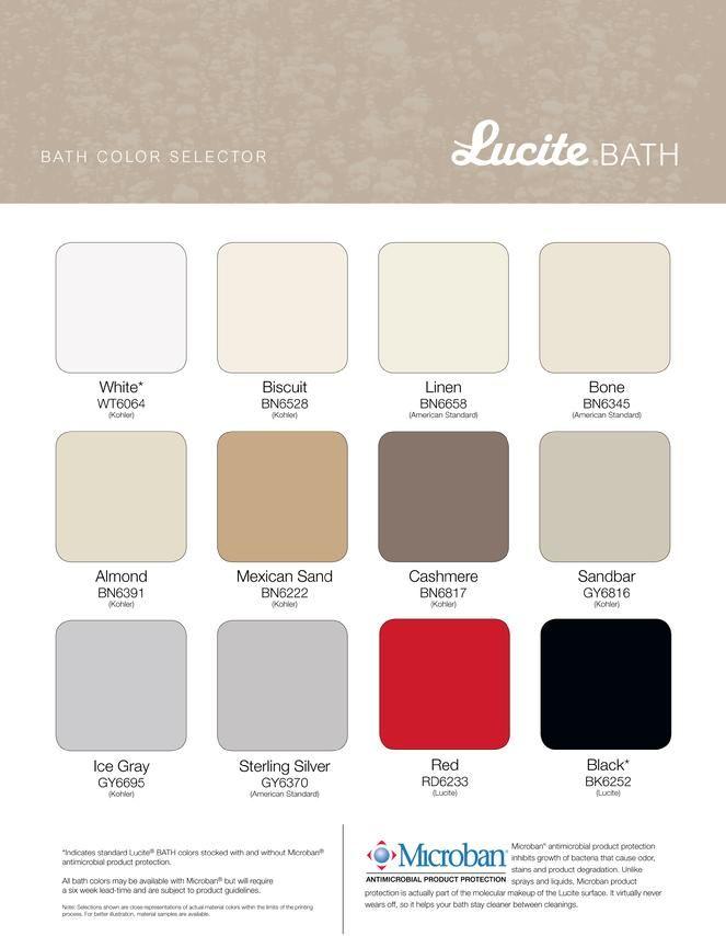 Acrylic bathtub, whirlpols and Air Bath LUCITE colors | Website ...