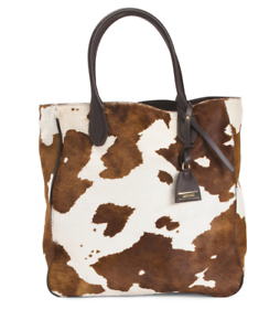 Iacucci Women S Made In Italy Haircalf Cow Print Tote Handbag Free Shipping Nwt Ebay