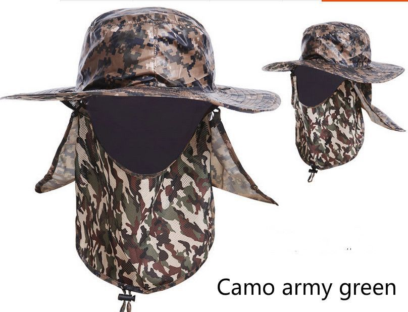 Wide Brim UV protection Hat Neck and Face Guard