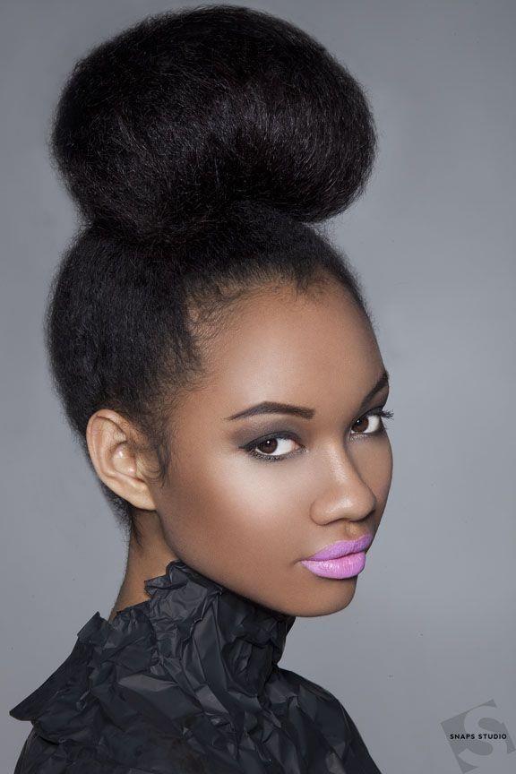 Lovely High Bun Hairstyles For Black Women Secretstolonghair Com Haar Haar En Schoonheid Schoonheid