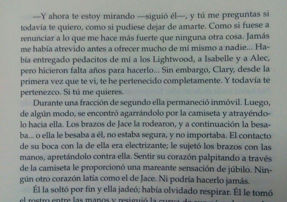 Cazadores de Sombras: Ciudad de Cristal #Jace #Clary #Love ♡♡
