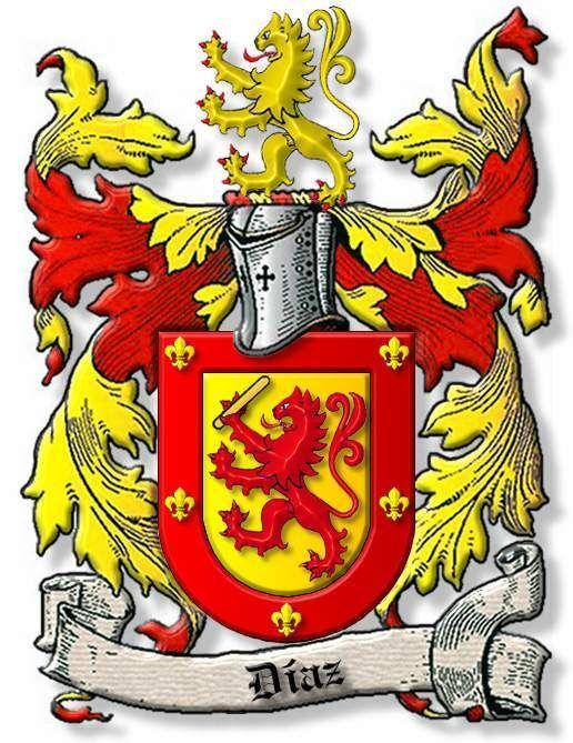Escudo Familia Diaz Esposo Suegra Coat Of Arms Heraldry Family Crest