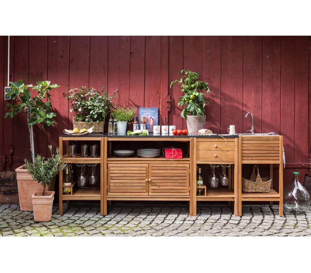 Dehner Markenqualitat Outdoor Kuche Southampton Dehner Garten Center Southampton Spulschrank Selber Bauen Holz