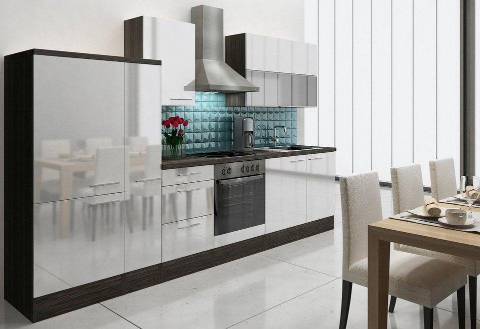 Küchenzeile mit EGeräten »Lea«, Breite 310 cm, Korpus